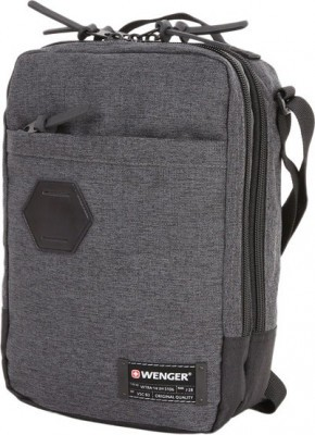 Сумка наплечная вертикальная WENGER, ткань Grey Heather/ полиэстер 600D PU , 19х11х28 см, 6 л 2606424532